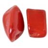 20x30mm Natural White Quartz Coated Red Jasper Nuggets